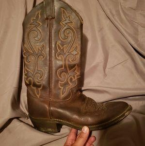 Vintage Justin Cowboy Western Boots size 7.5